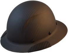 DAX Actual Carbon Fiber Shell Full Brim Hard Hat - Matte Black