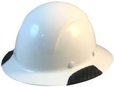 DAX Actual Carbon Fiber Shell Full Brim Hard Hat - White