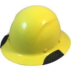 DAX Actual Carbon Fiber Shell Full Brim Hard Hat - Yellow