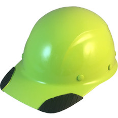 DAX Fiberglass Composite Cap Style Hard Hat - Hi Viz Lime