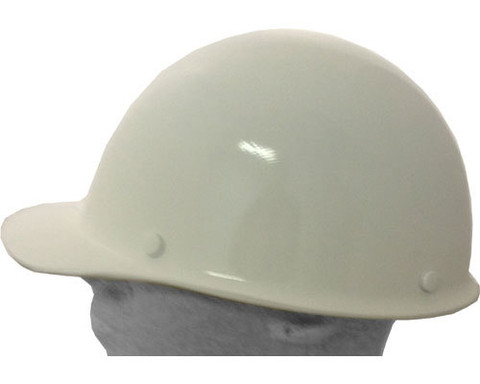 Msa 475396 Skullgard Cap Style With Ratchet Liners White