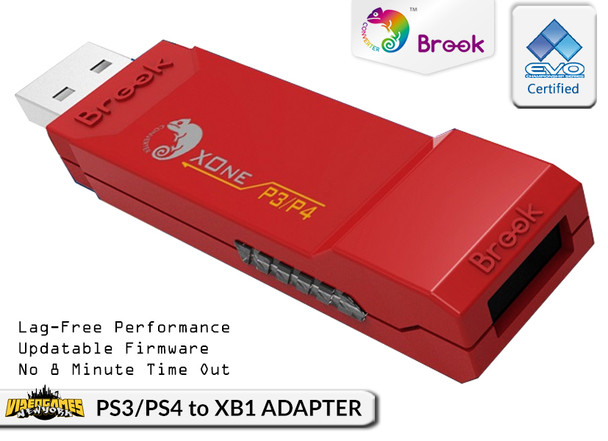 PS3/PS4 to XboxOne Controller Converter/Adapter X1-RD [BROOK]