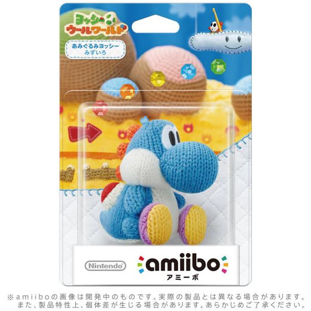Blue Yarn Yoshi - Yoshi Woolly World Amiibo
