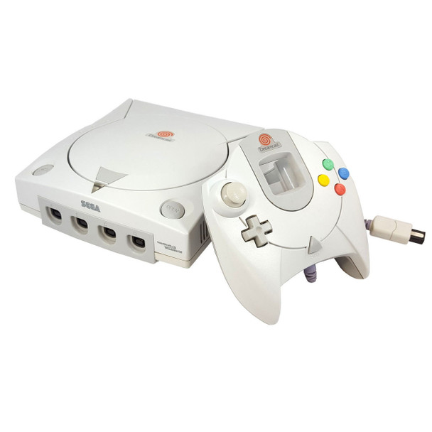 Sega Dreamcast system with controller