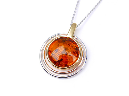sterling the grande silver products plaza pendant baltic amber grapevine