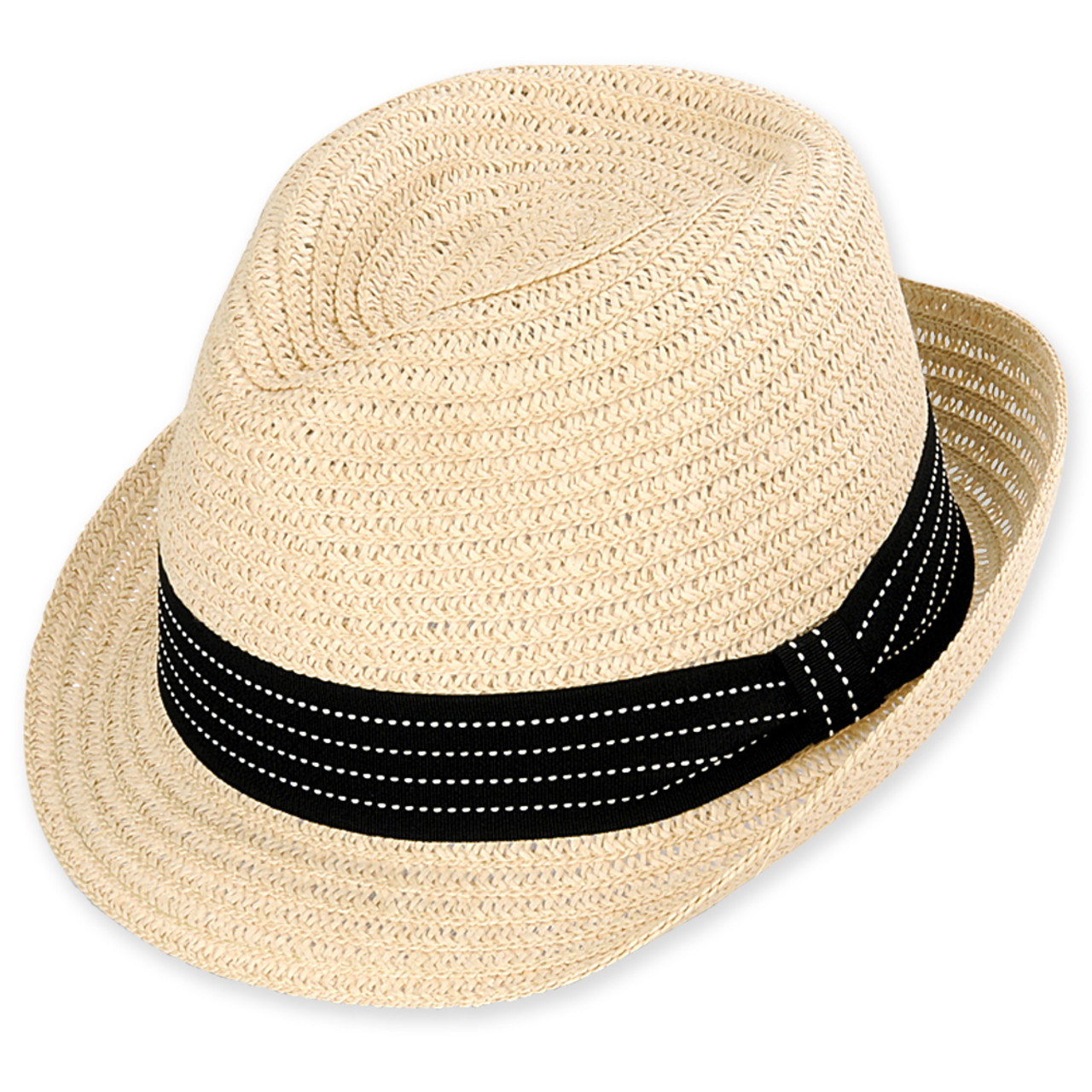 5e4e29ba SWIFT FEDORA HAT PAPERBRAID W/RIBBON TRIM - Sun 'N' Sand Accessories