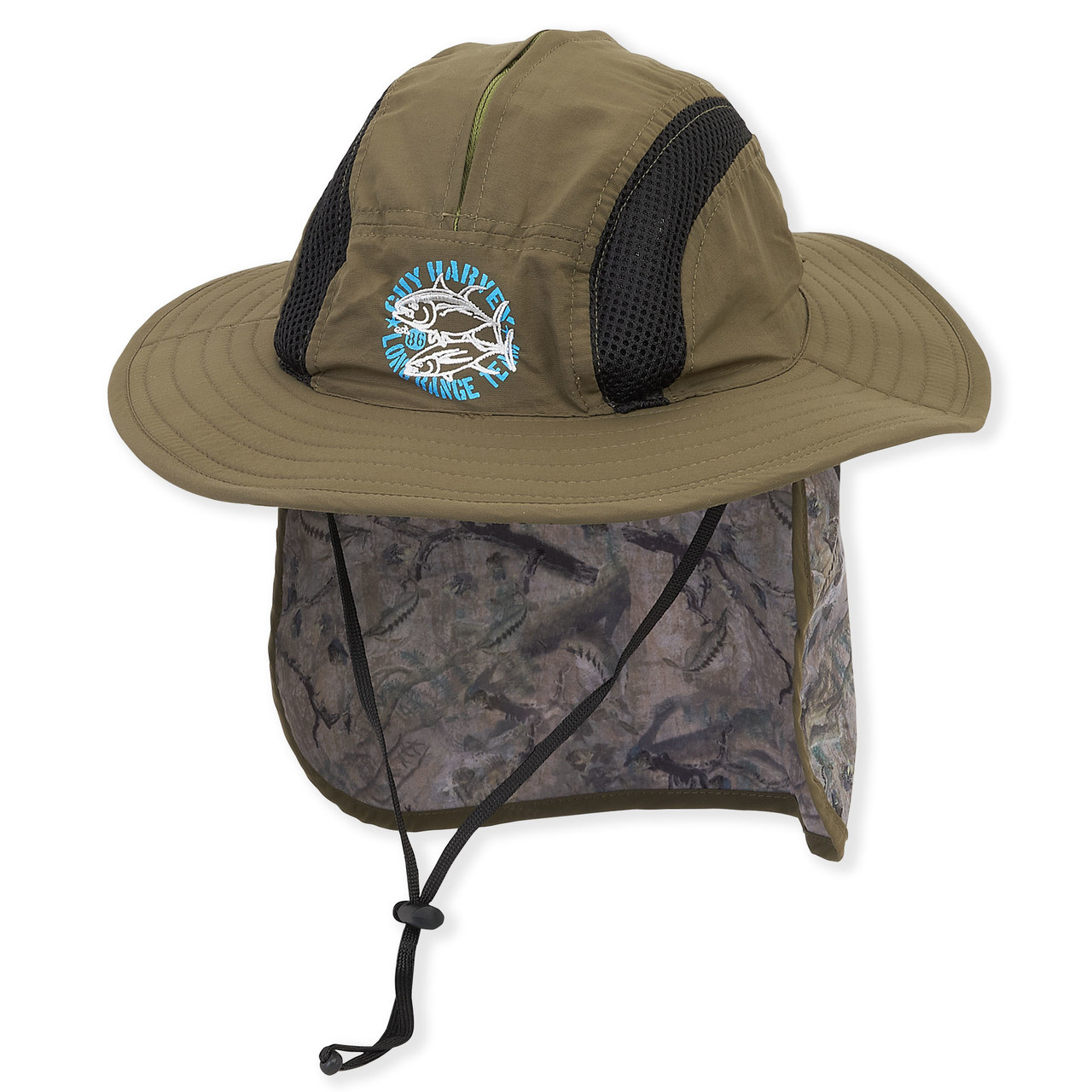 Guy Harvey HAT W CHIN CORD   Camo Flap - Sun  N  Sand Accessories b320951076b9
