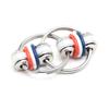 Stephie - Red, White, Blue (Split Rings)