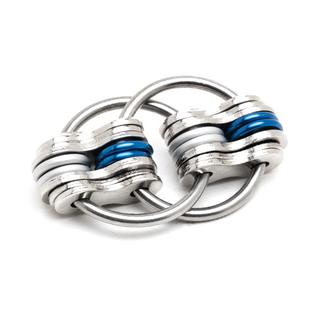School Team - Blue & Silver (Solid)