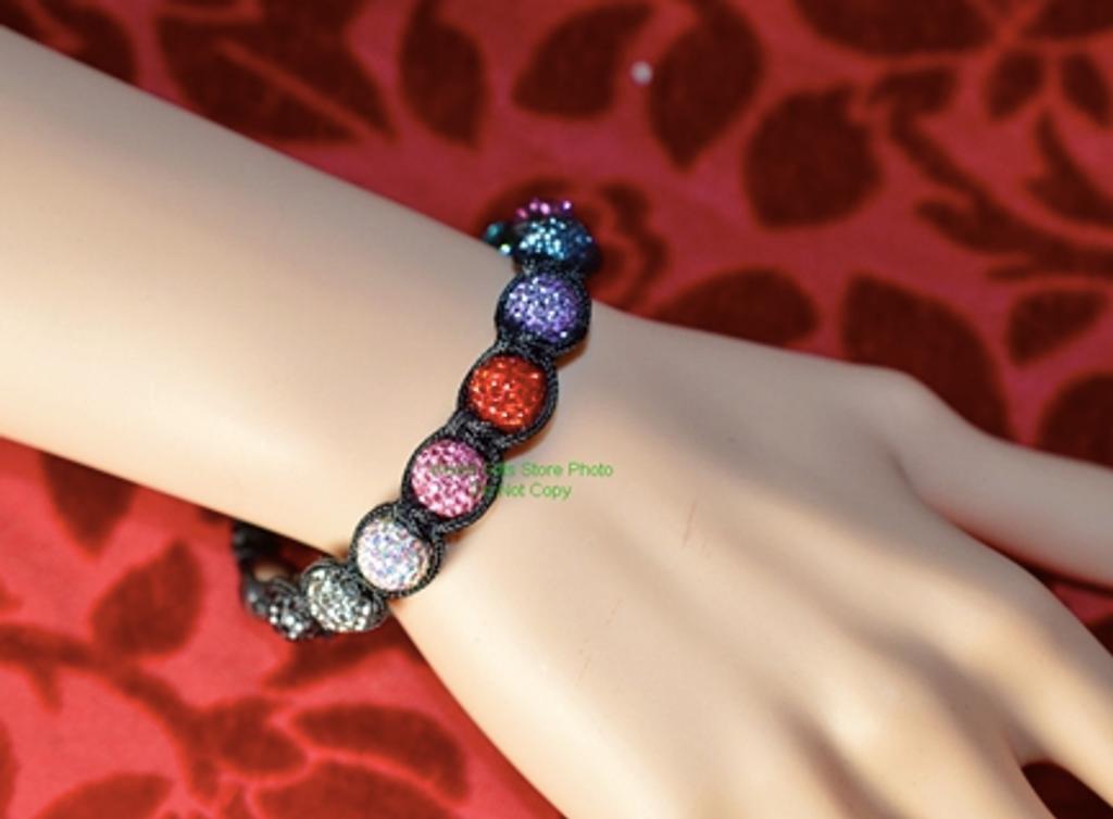 Colour Crystal Ball Bracelet