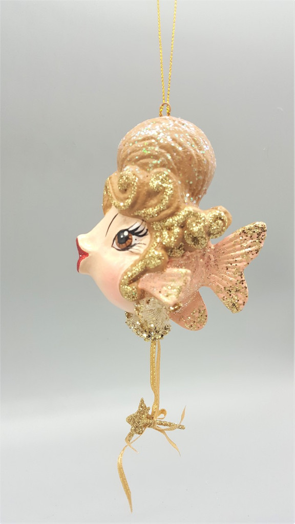 Cinderella Kissing Fish Ornament Decoration