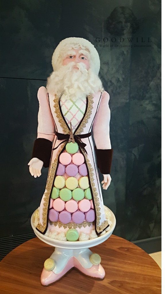 Christmas Macaroon Santa Doll Display