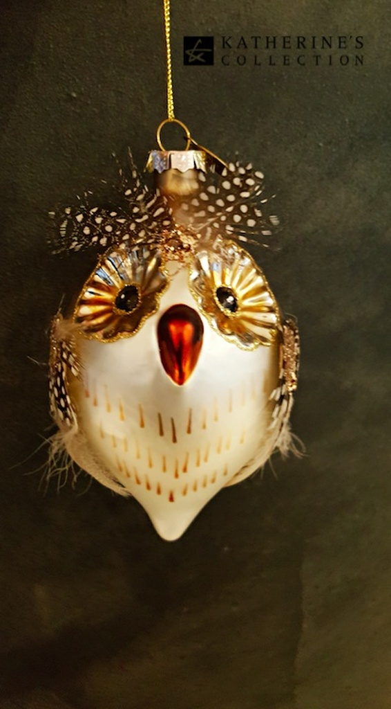 Handmade Glass Owl Bauble