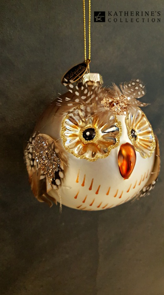 Katherine's Collection Owl Christmas Tree Decoration