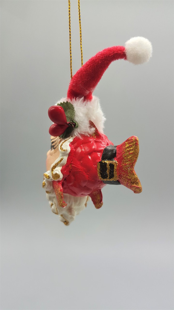 Mr Claus Kissing Fish Tree Decoration