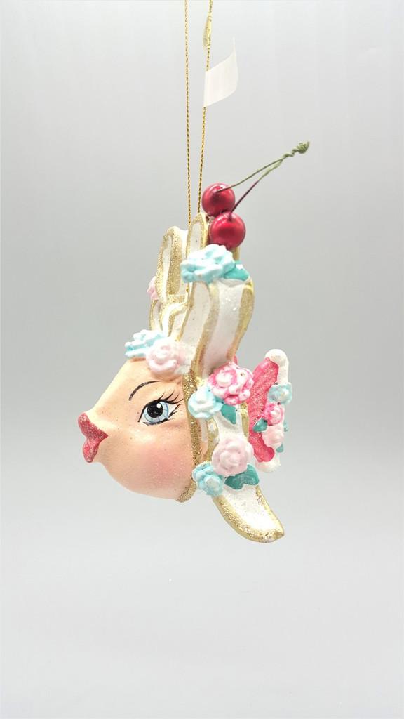 Cherry Bow Kissing Fish Tree Ornament