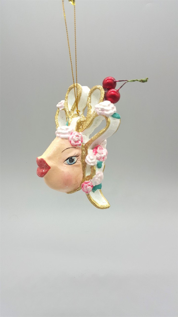 Kissing Fish Cherry Bow Christmas Tree Ornament