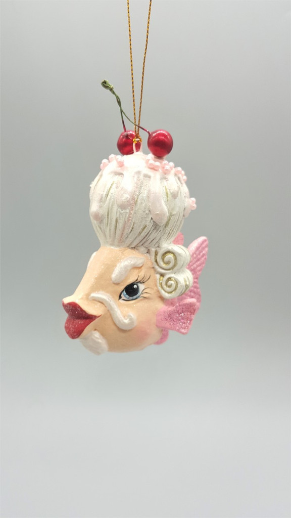 Mr Cherry Wig Kissing Fish Tree Ornament