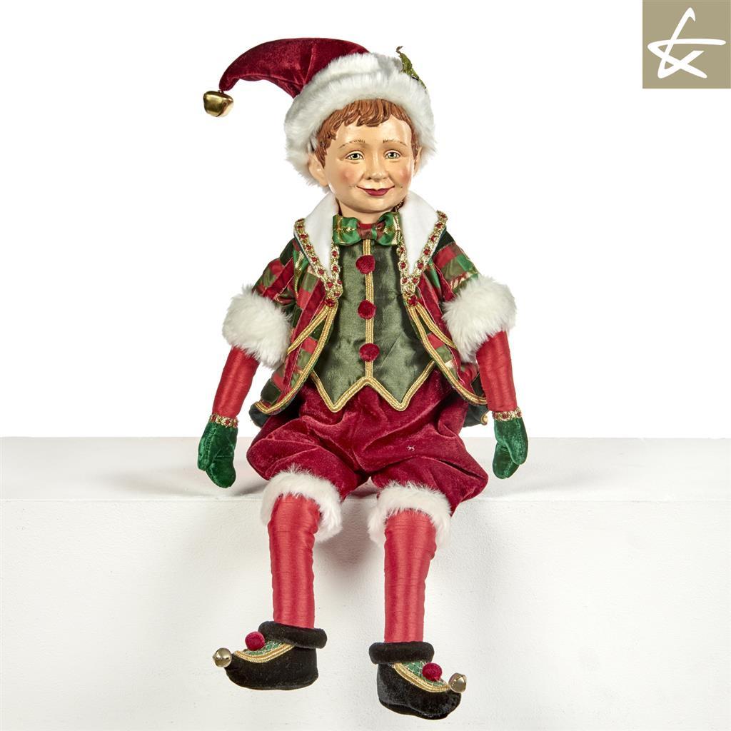 Tartan Tradition Elf Doll Display Katherine's Collection 2018