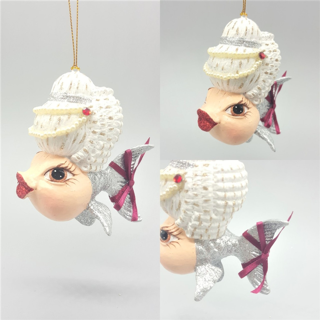 Mozart Christmas Tree Decoration Kissing Fish