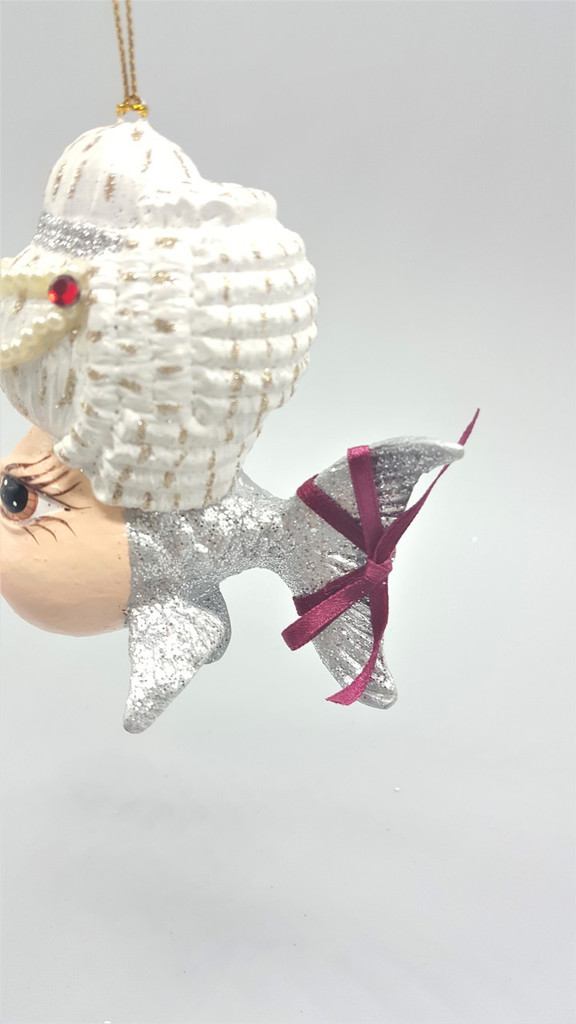 Mozart Kissing Fish Christmas Ornament