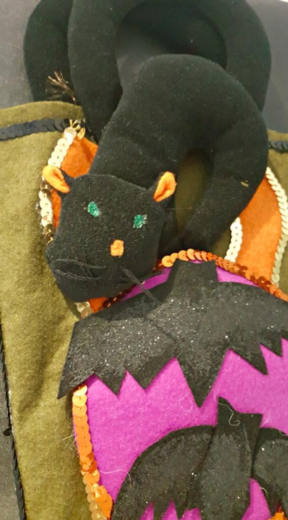Katherine's Collection Green Halloween Stocking
