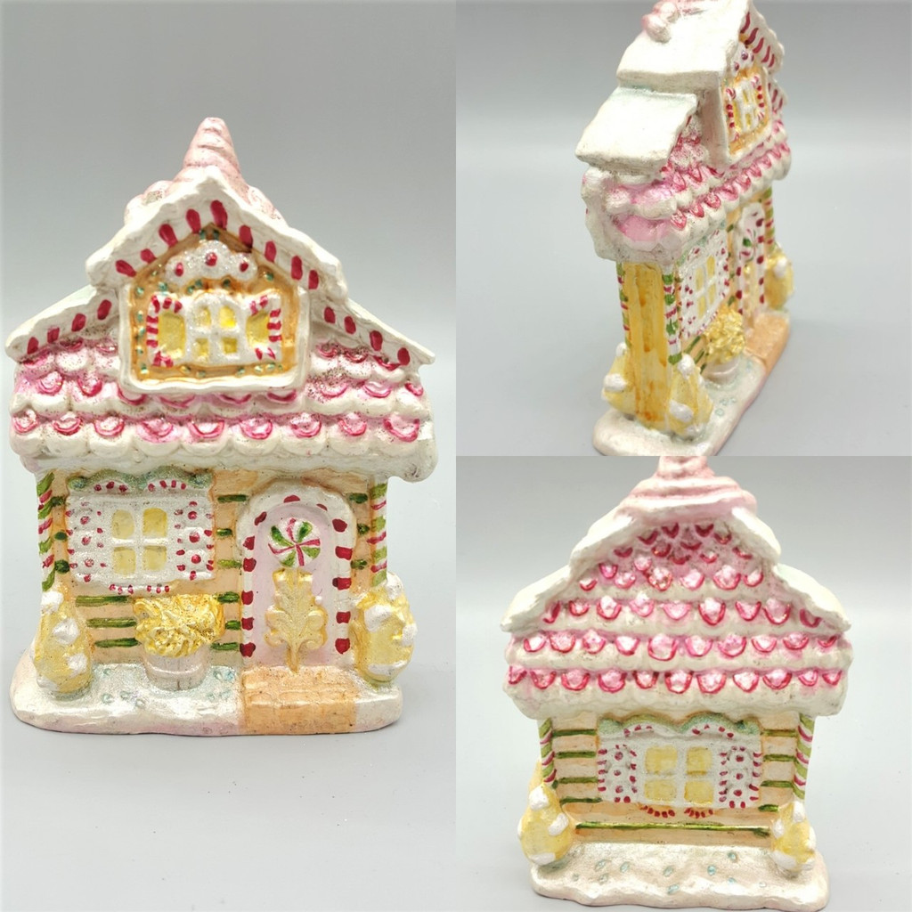 Candy House Table Display, handmade and hand painted with candy theme design.