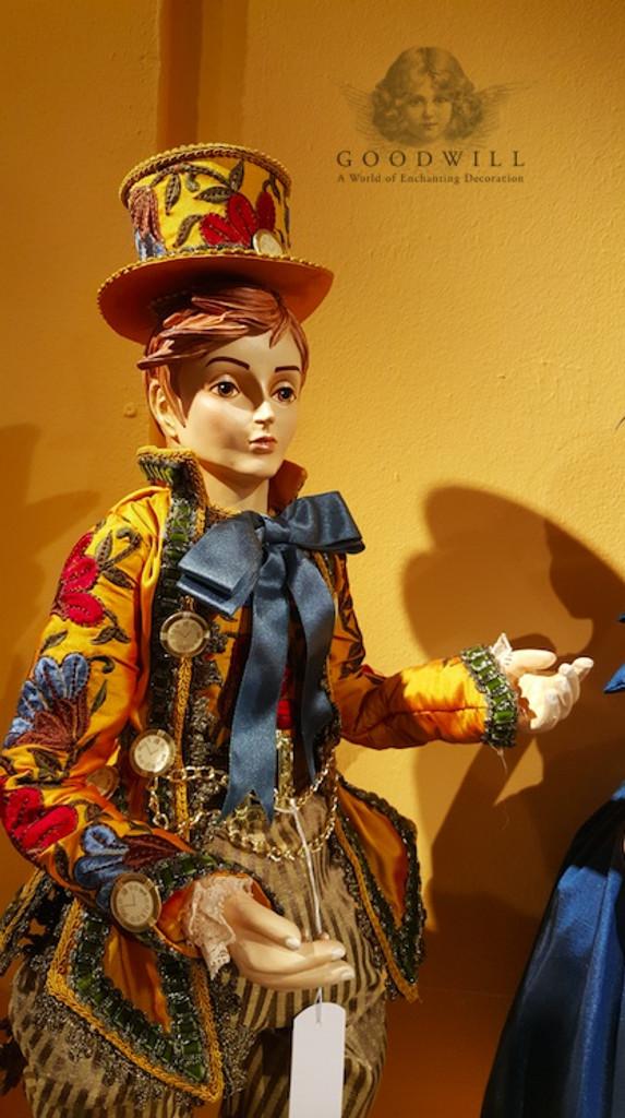Alice Wonderland Mad Hatter Doll Display