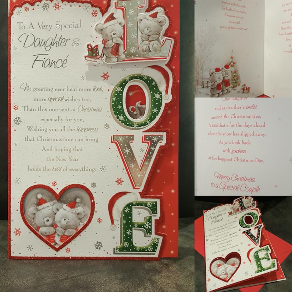daughter fiancé large christmas card