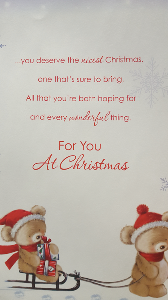 Large Christmas Card Both Of You