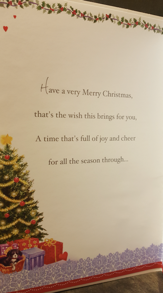 Christmas Wishes Neighbours Card