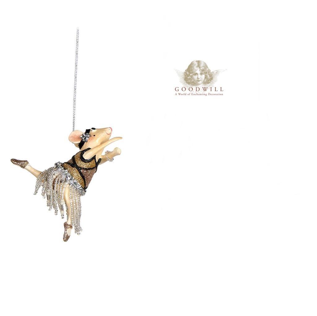 Goodwill 2018 Gatsby Show Girl Mice Tree Decoration 10cm