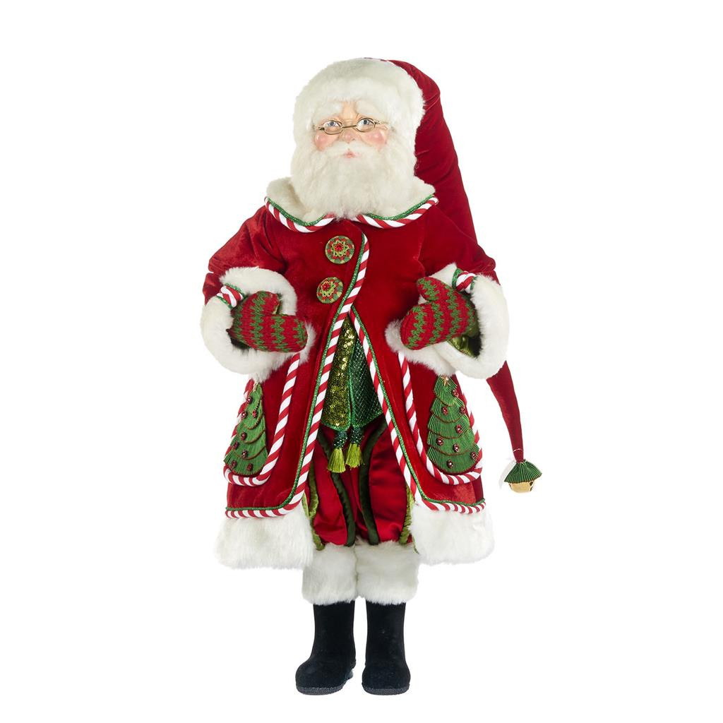 NIGHT BEFORE SANTA DOLL RD/WH/GRN 63,5CM