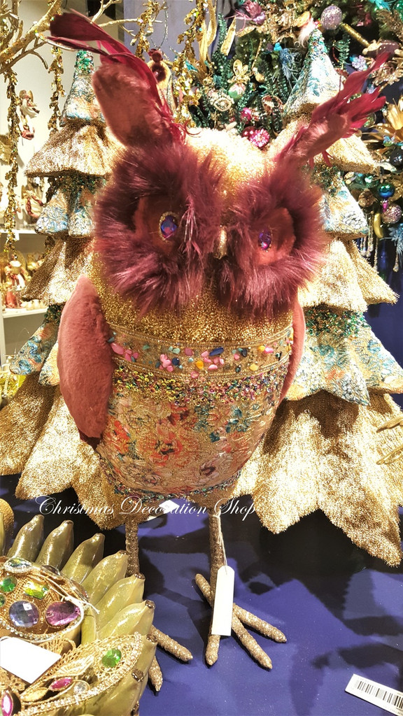 Goodwill Brocade Owl Display Decoration