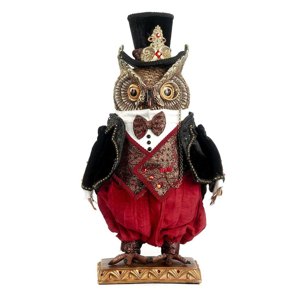 Katherine's Collection Holiday Cheer Owl Doll Dipslay 46cm