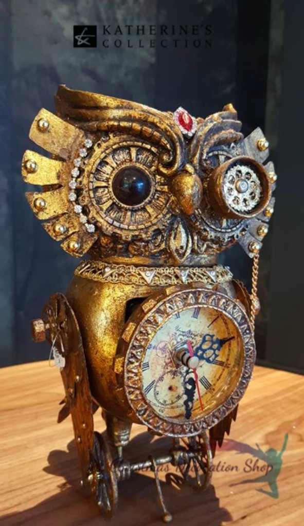Katherine's Collection Owl Clock Display Ornament