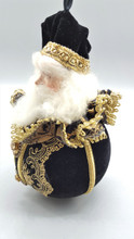 Black Gold Santa Bauble Tree Decoration
