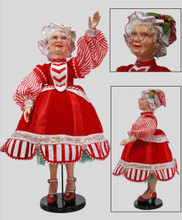 Mrs Clause Christmas Doll Display