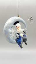 Katherine's Collection Santa On Moon