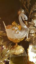 Katherine's Collection Christmas Swan Table Display