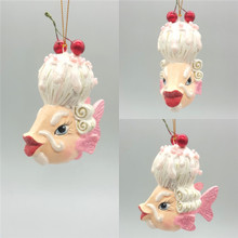 Mr Cherry Kissing Fish Christmas Tree Decoration