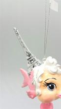 Eiffel Tower Macaroon Kissing Fish Christmas Ornament