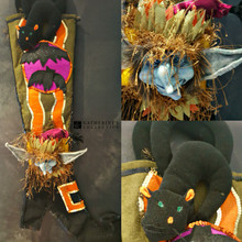 Katherine's Collection Fun Goblin Witch Stocking Halloween Display