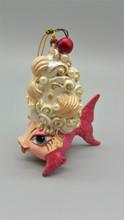 Kissing Fish Cherry Shell Tree Ornament