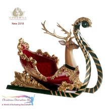 Luxury Large Deer Sledge Display Beautiful Crystal Detail Lavish Material 71CM