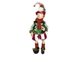 Night Before Christmas Elf Doll Display, Arms Legs can pose for your theme display.
