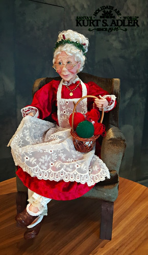 Kurt's Adler Mrs Claus Life Like Doll Display