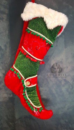 Christmas Elf Stocking Display
