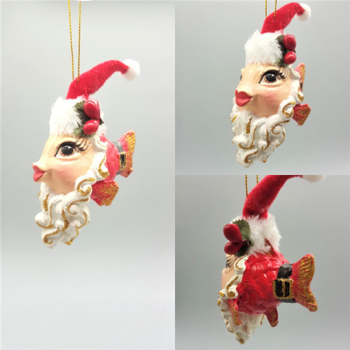 Mr Clause Kissing Fish Christmas Tree Ornament Display