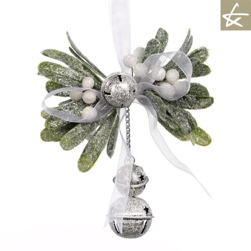 Katherine's Collection Christmas Mistletoe Tree Display With Bells